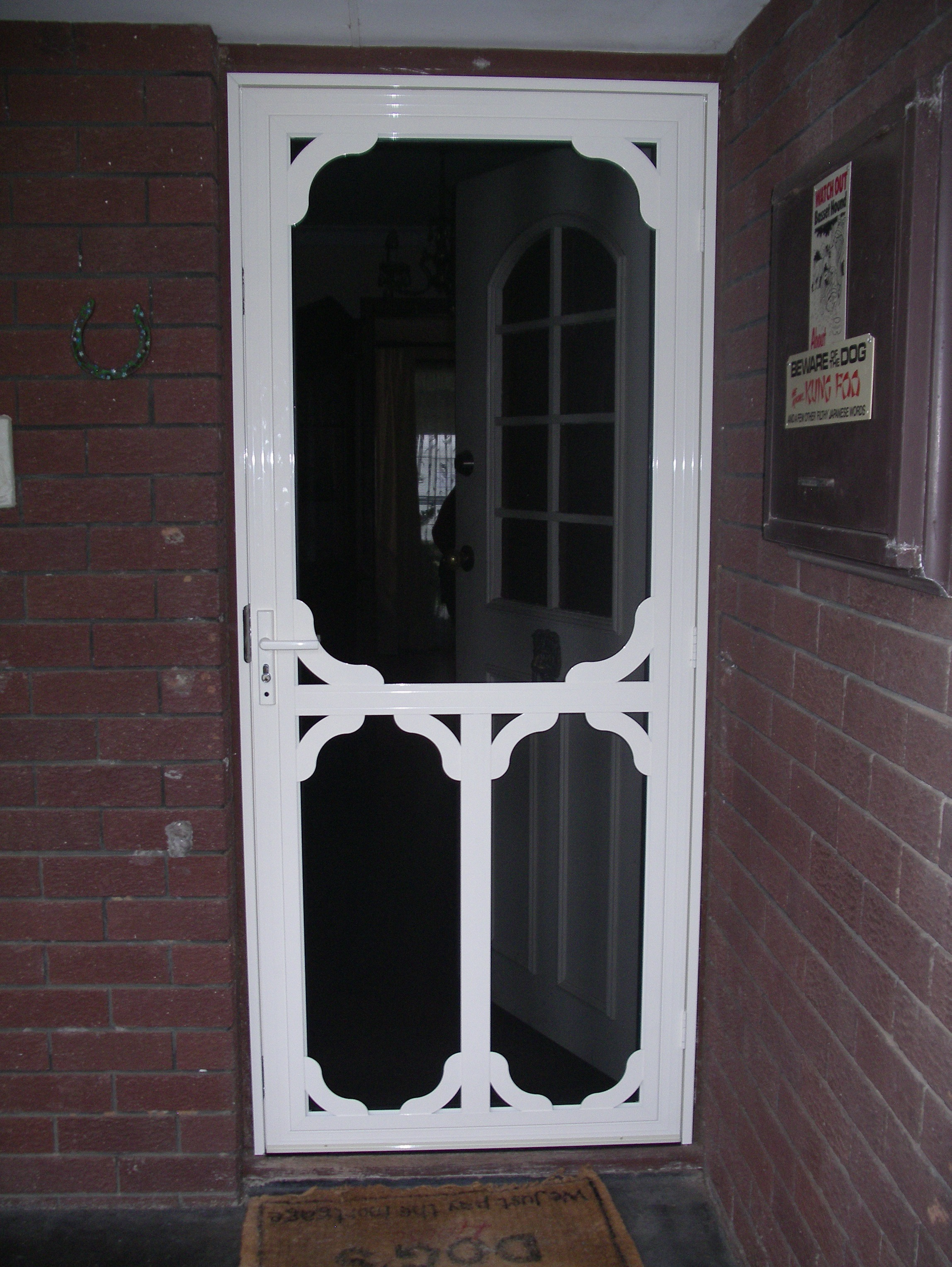 Decorative Security Screen Doors Sacramentotitan Installation
