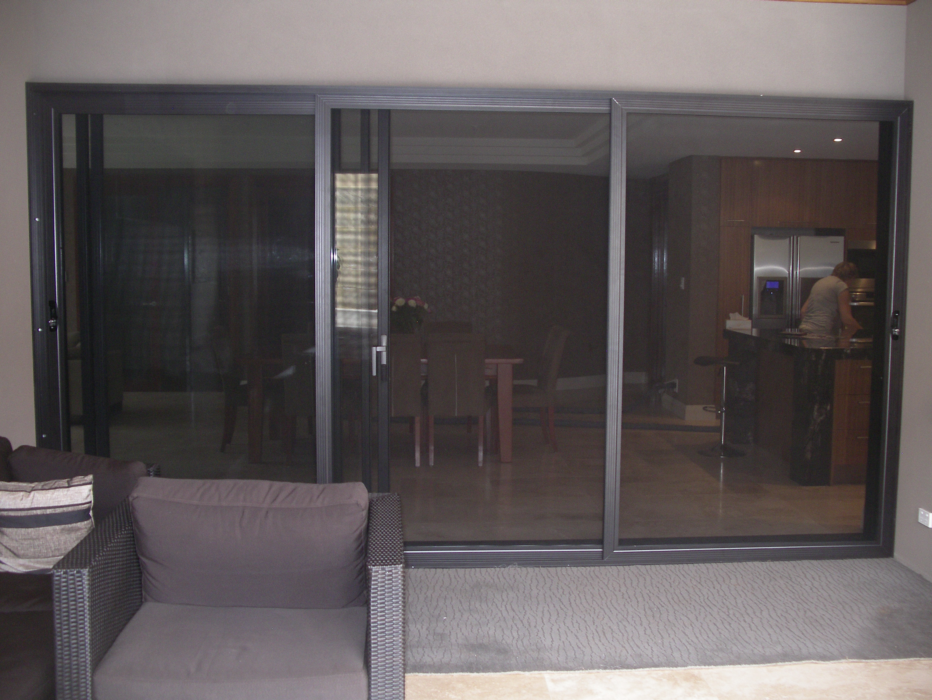 Sliding Security Screen Doors with Glass 3056 x 2296